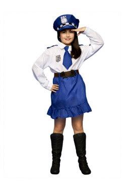 Disfraz de Policía para niñas de 3 a 4 años