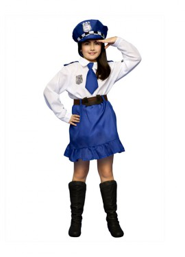 Disfraz de Policía para niñas de 5 a 6 años