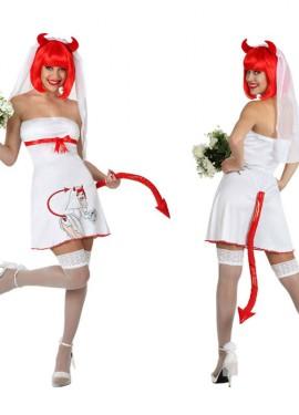 Disfraz de Novia Demonia de mujer M-L para Despedidas