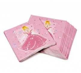Bolsa de 20 Servilletas de Princesa de 16x16 cm