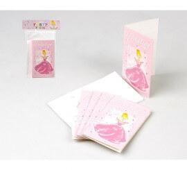 Bolsa de 6 Invitaciones de Princesa para Cumpleaños