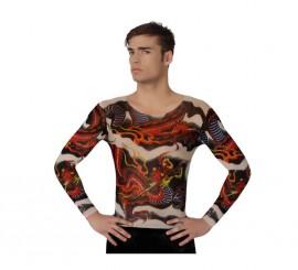 Camisa con tatuaje de Dragón