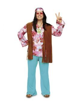 Disfraz de Hippie para chicos. Talla STD M-L