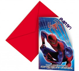 Bolsa de 6 invitaciones Spiderman