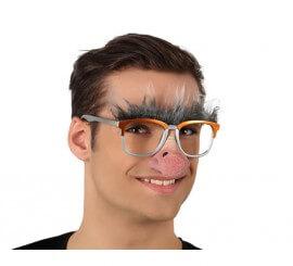 Gafas de Anciano con nariz y cejas