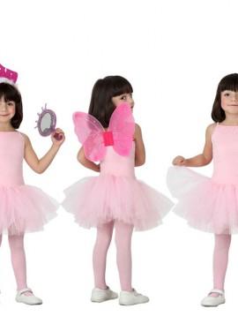 Disfraz de Bailarina Rosa para Niña