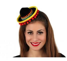 Mini sombrero Mejicano con diadema
