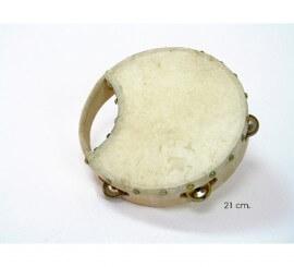 Pandereta Rociera de piel de cabra de 21 cms.