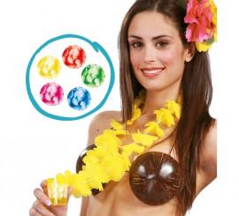 Collier Hawaïen à Fleurs avec un verre plusieurs Coloris