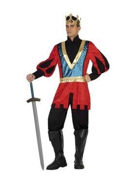 Déguisement Roi du Moyen-Âge Rouge pour homme plusieurs tailles