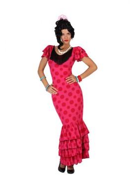 Déguisement de Sévillane - Espagnole Rose Femme plusieurs tailles