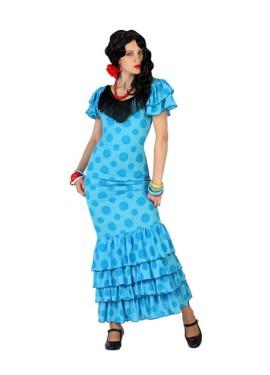 Déguisement de Sévillane - Flamenca Bleu Femme plusieurs tailles