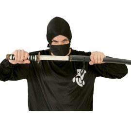 Sable de Japonés Ninja negra de 76 cm con funda