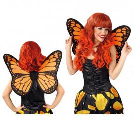 Alas de Mariposa naranjas y negras de 50 cm