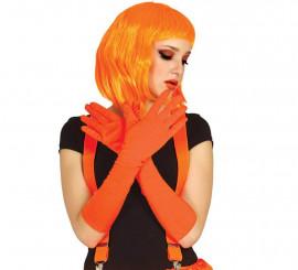 Par de Guantes naranja neón de 45 cm