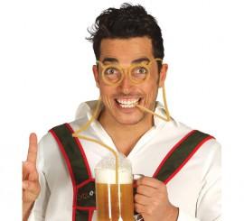 Gafas Bebida con pajita