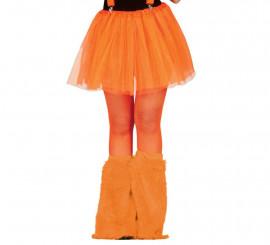 Par de Calentadores naranja neón