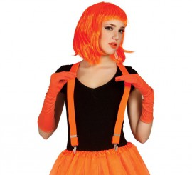Tirantes de color naranja neón