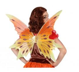 Alas de Mariposa o Hada Naranjas y Amarillas 57 x 38 cm
