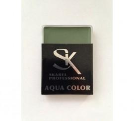 Cajita de Maquillaje Profesional al agua Verde Oscuro 12 gr.