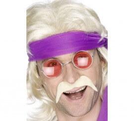 Moustache Blonde de Années 70 pour homme