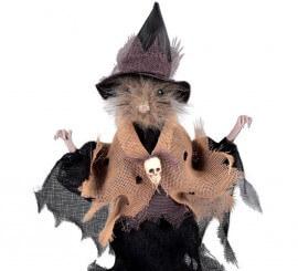 Rata disfrazada de Bruja de 24 cm para Halloween
