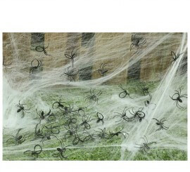 Bolsa con 50 Arañas pequeñas para decorar Haloween