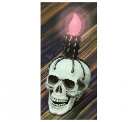 Calavera con luz de 20 cm para Halloween