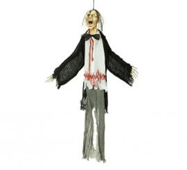 Colgante Monstruo con pajarita de 90 cm de Halloween