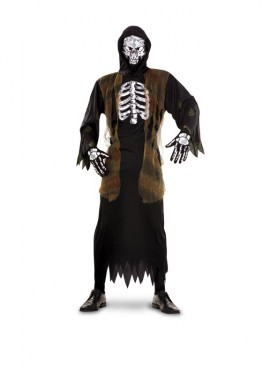 Disfraz de Esqueleto Verdugo para hombre talla M-L