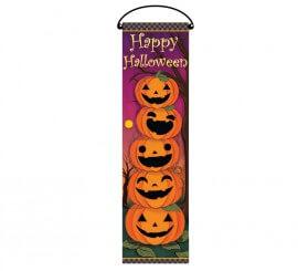 Cartel Calabazas de 76x25 cm para decorar en Halloween