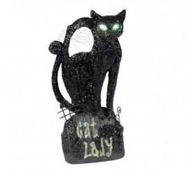 Gato con luz de 30 cm para Halloween