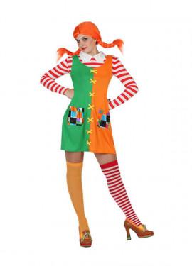 Disfraz de Pipi niña Traviesa para mujer