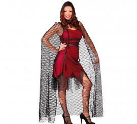 Capa de Vampiresa con capucha de 140 cm