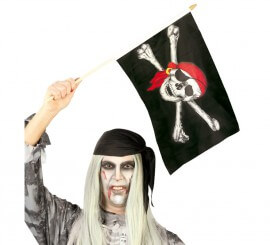Bandera de Pirata Calavera de 45x30 cm
