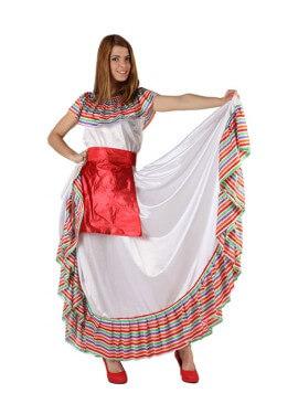 Disfraz de Mejicana para mujer. Talla M-L