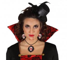 Conjunto Collar y Pendientes Calavera para Halloween