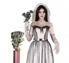 Ramo de rosas negras de 65 cm para Halloween