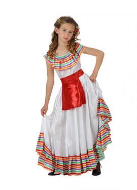 Déguisement de Méxicaine pour enfants plusieurs tailles