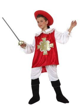 Disfraz de Mosquetero rojo para niños