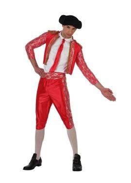 Déguisement Torero Rouge Deluxe pour homme plusieurs tailles