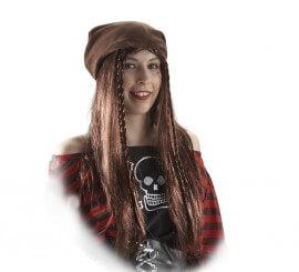 Bandana Pirate avec des nattes marron