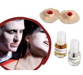 Cicatrice en latex de morsure de Vampire avec colle