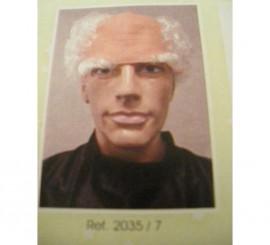 Calva, pelo y cejas blancas Abuelo