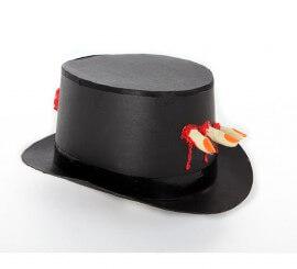 Sombrero de Copa negro mano sangrienta