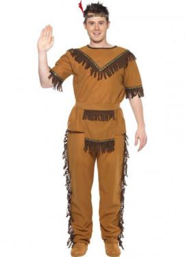Disfraz de Indio Bravo para hombre