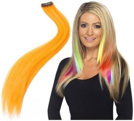 Lot 2 mèches de Cheveux Couleur Orange Fluorescent