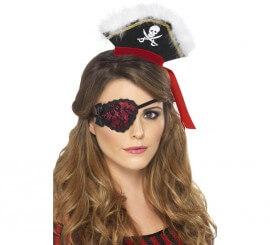 Parche Mujer Pirata Rojo