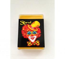 Cajita de maquillaje graso de color Amarillo de 25 gr.