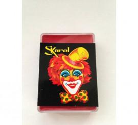Cajita de maquillaje graso de color Rojo de 25 gr.